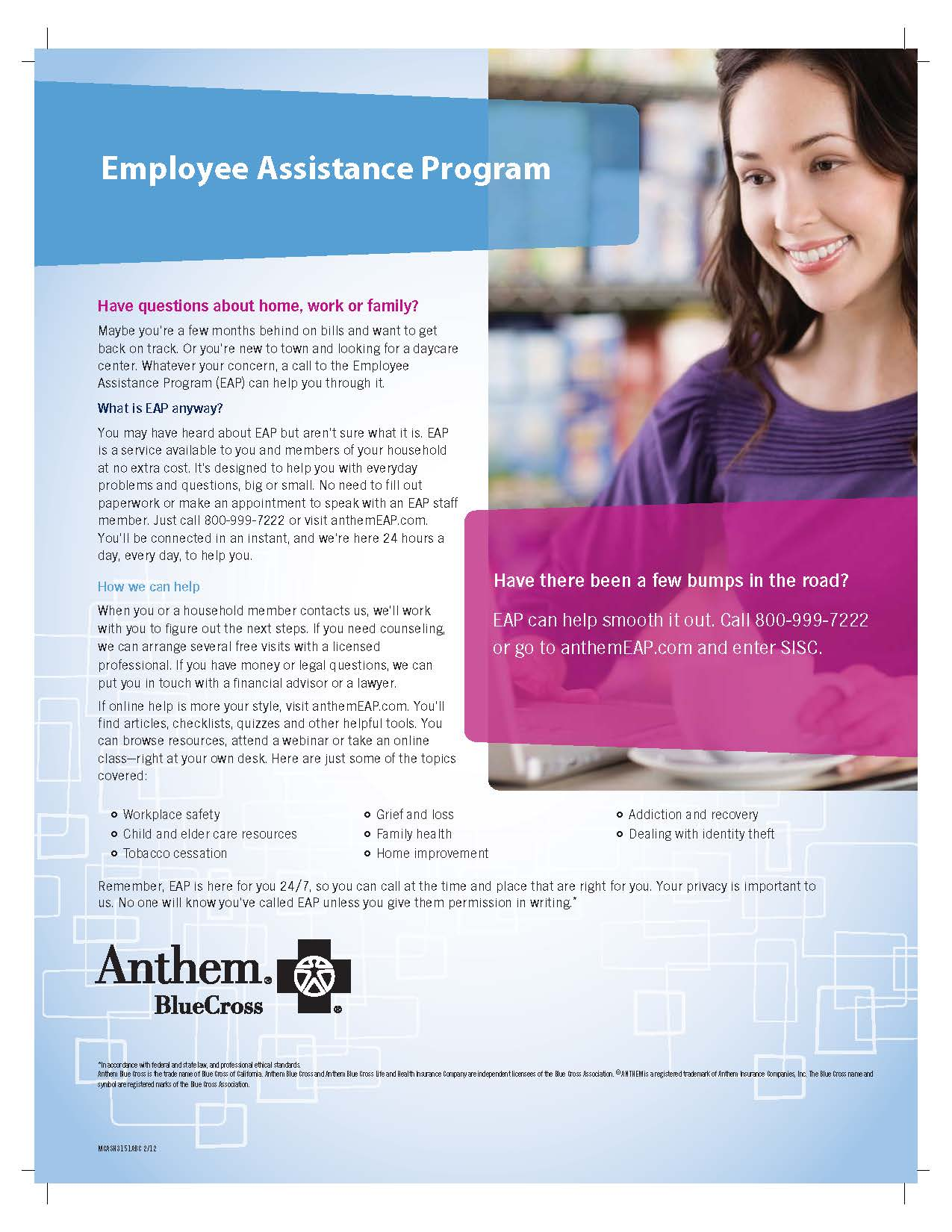 HDTA | Employee Assistance Program-Anthem Blue Cross
